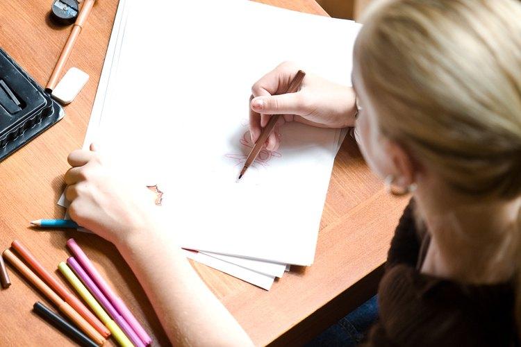 Determina un tiempo en clase para que los niños hagan obras de arte con lápices de colores.