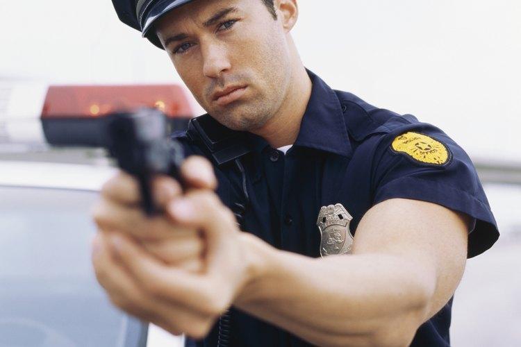 Los miembros de la policía utilizan una variedad de armas de servicio.