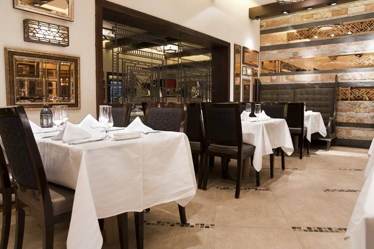 Los restaurantes ofrecen muchas posiciones.
