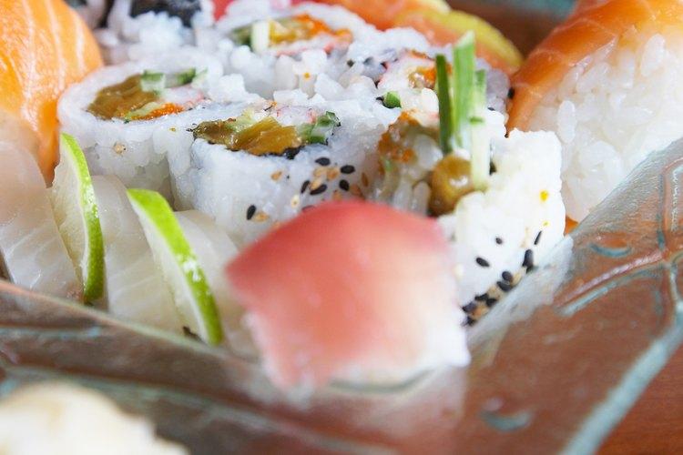 La champaña blanc de blanc combina bien con el sushi.