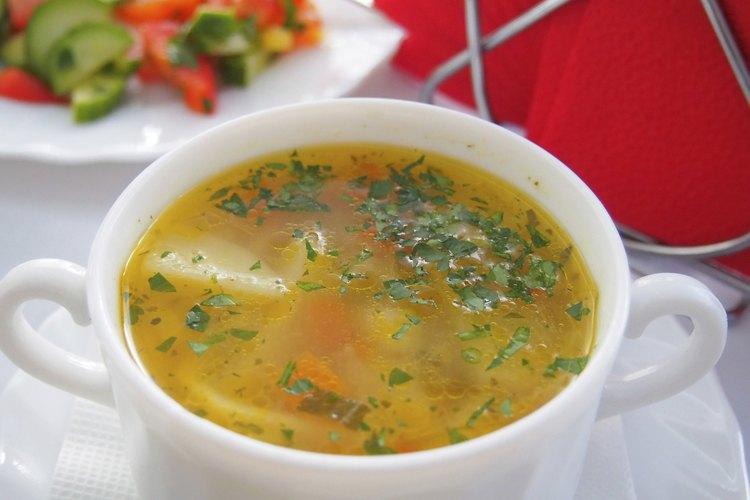 Cómo hacer que la sopa quede espesa.