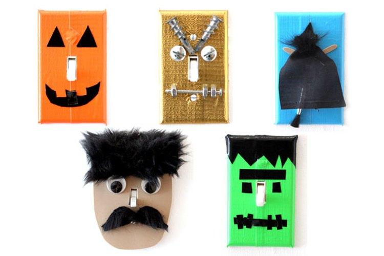 Placas de interruptores de Halloween.