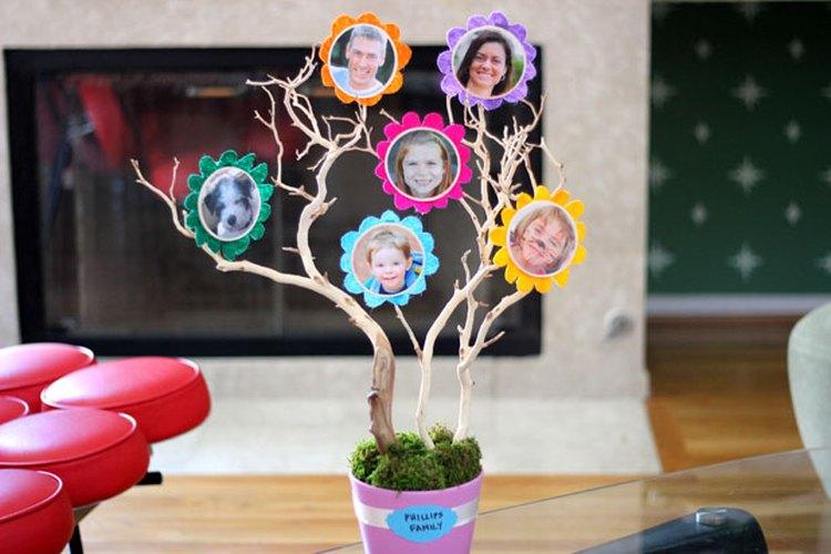 Un árbol familiar colorido.