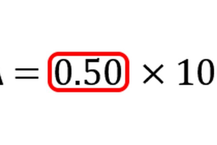 Dividir el numerador por el denominador produce la tasa de cambio.