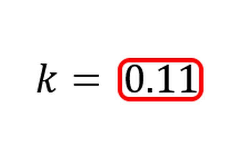Dividir por el tiempo convierte la tasa de crecimiento a una tasa de crecimiento anual promedio.