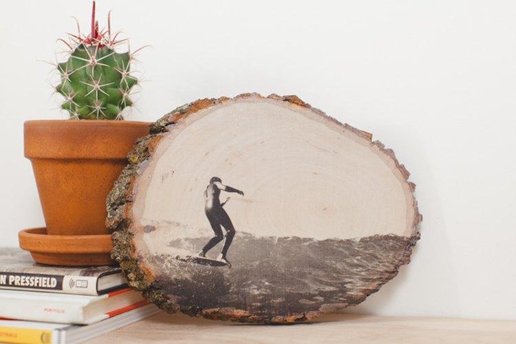 Exhibe tu impresión de madera.
