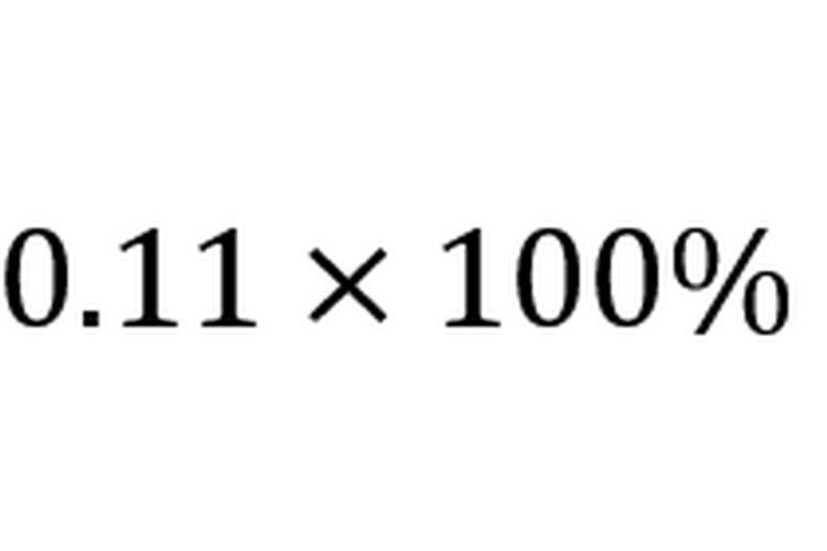 Multiplicar por 100 convierte la tasa de crecimiento en un porcentaje.