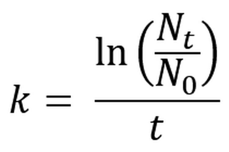 La fórmula de tasa de crecimiento continuo