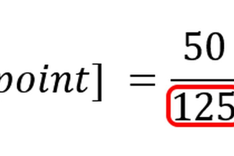 Trabajar a través del denominador entre paréntesis produce un valor promedio.