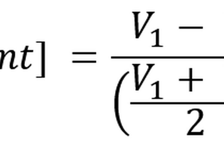 La fórmula de cambio porcentual de punto medio