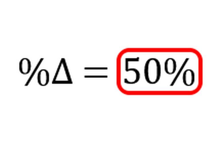 Multiplicar por 100 convierte la tasa de cambio a un porcentaje.