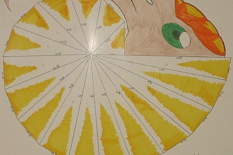 Una espiral terminada y decorada