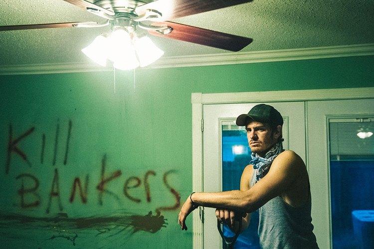 Imagen de Andrew Garfield durante la grabación de una escena para la película