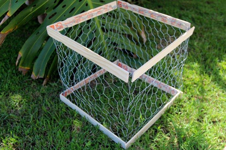 Los palos de madera en los extremos hacen una caja más sólida.