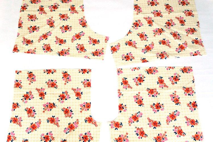 Corta las piezas del patrón desde la tela.