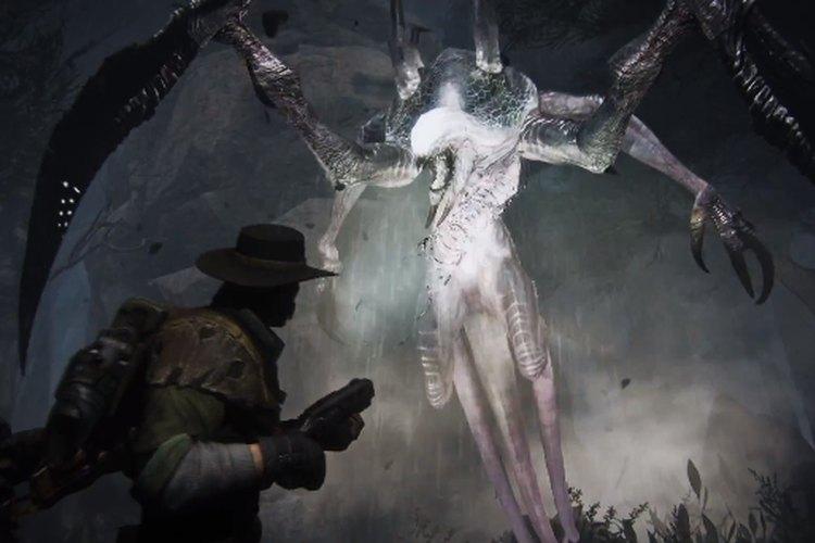Un imponente monstruo aparece frente a los protagonistas del juego