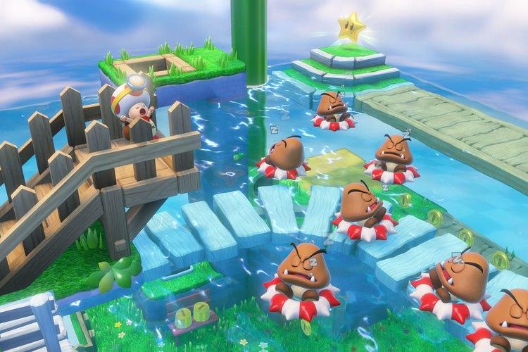 """Captura de uno de los niveles de """"Captain Toad: Treasure Tracker"""""""