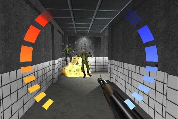 Imagen de una secuencia original en Goldeneye para Nintendo 64