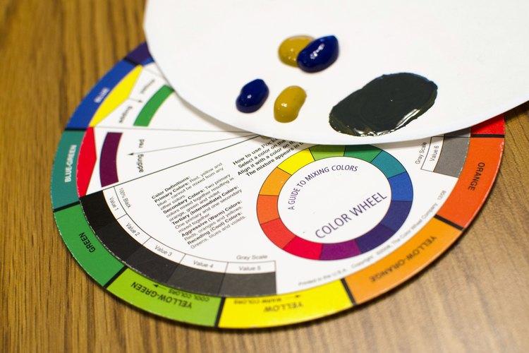 Para matizar, mezcla el color con su complementario.