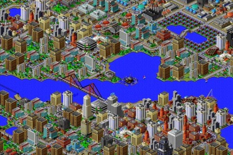 Imagen de una ciudad construida por un usuario en SimCity 2000
