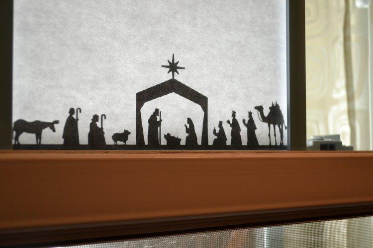 Haz una escena de la figura del Nacimiento.