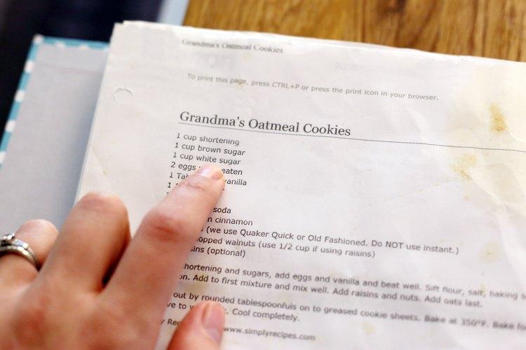 Algunas recetas son flexibles en cuanto a sus ingredientes.