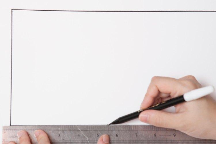 Dibuja un rectángulo con las medidas obtenidas.