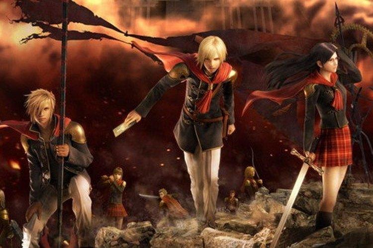 Imagen con tres de los principales personajes del  juego
