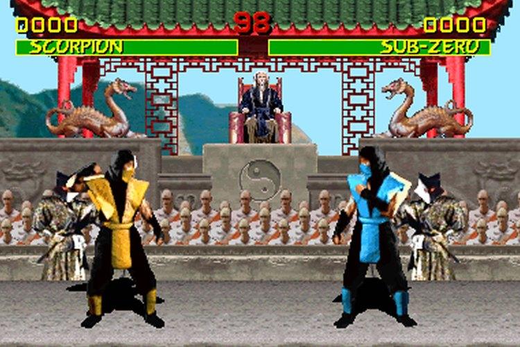 Captura de pantalla del Mortal Kombat original
