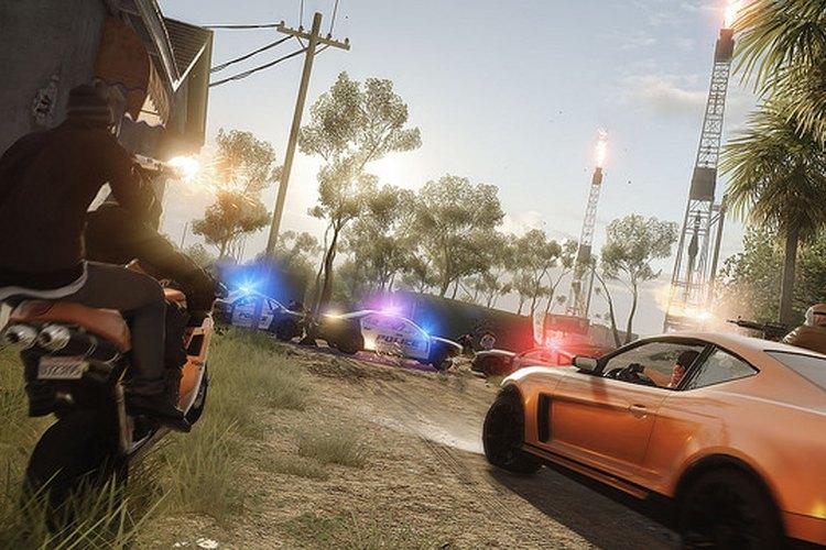 """Secuencia de un enfrentamiento entre policías y ladrones en """"Battlefield Hardline"""""""