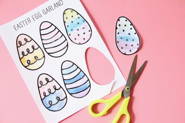 Corta los huevos.