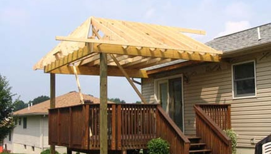 Build a roof on your deck to enjoy your outdoor space regardless of the weather!