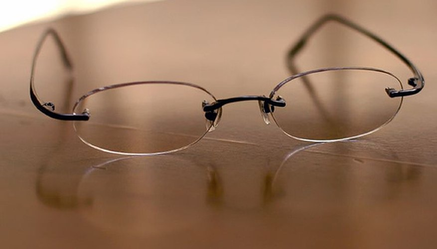 Adjust to wearing glasses with prisms