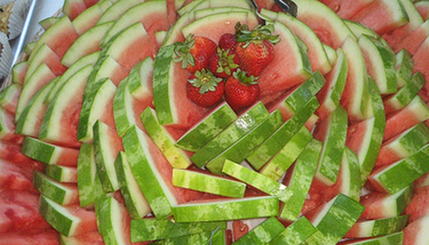 A watermelon fruit tray.