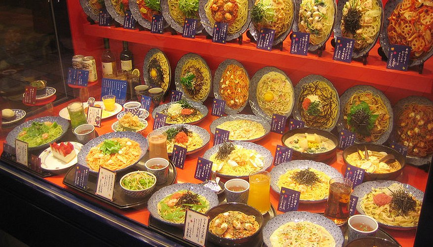 Though it may look appetising, none of the food in this display is real.