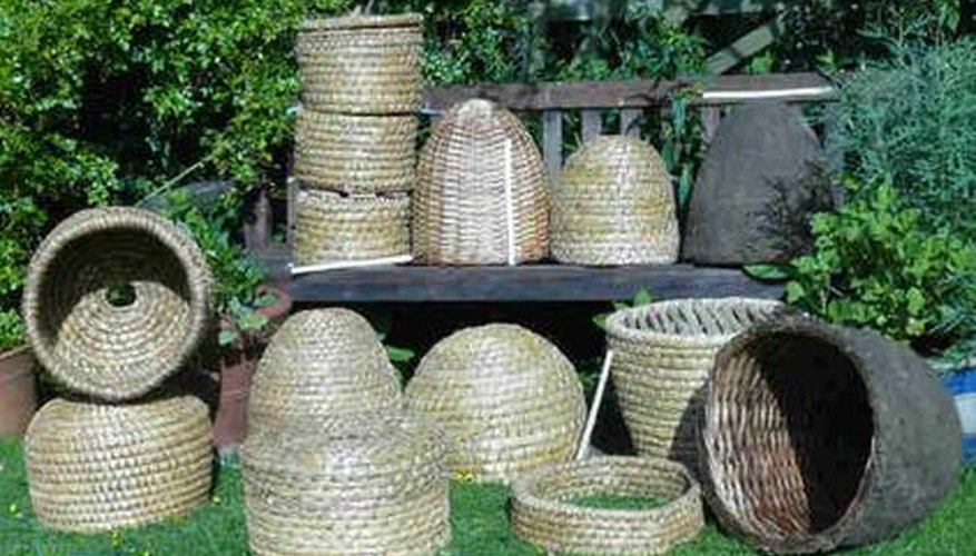 Collection of completed skeps.