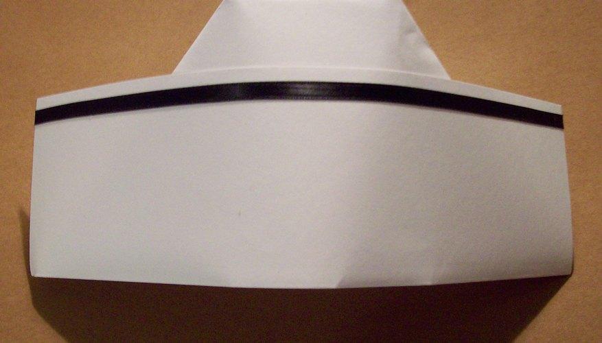 Make a nurse's cap from stiff, white paper