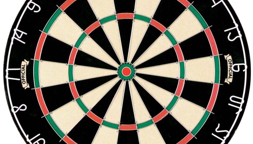 A regulation dartboard
