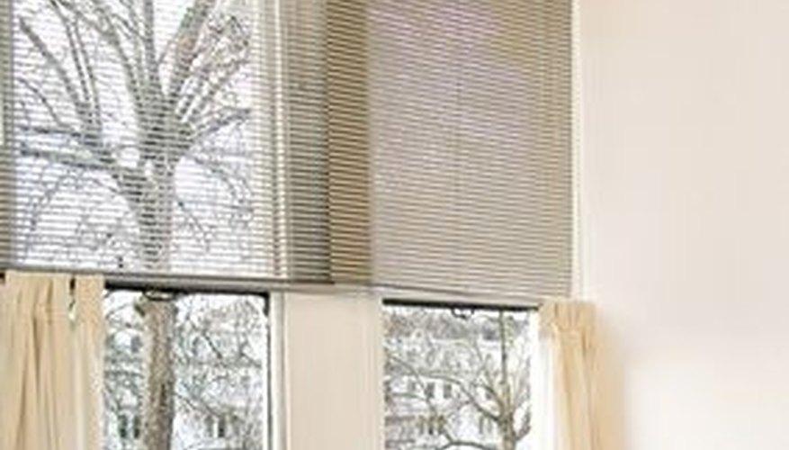 Tab-top curtains.