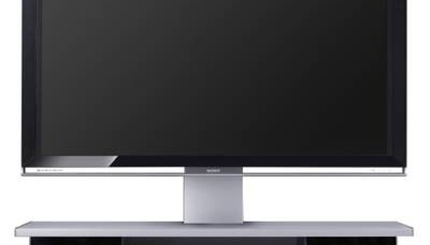 An LCD television.
