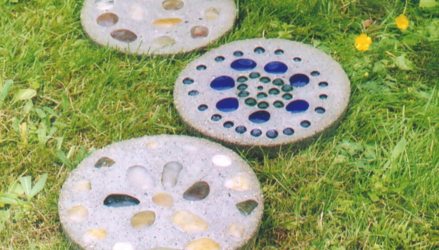 Fanciful stepping stones jazz up your garden.
