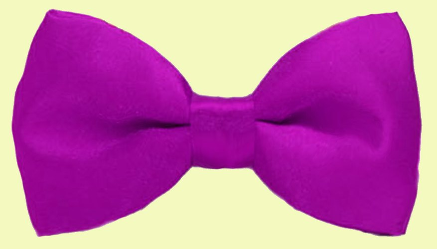 Big bow ties are easy to fix.