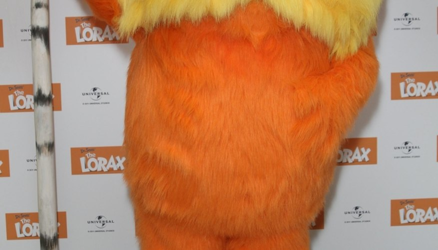 Orange and furry are the trademarks of the Lorax.