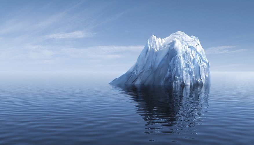 An iceberg was the downfall of the Titanic.