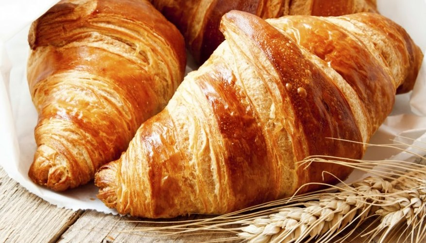 The crescent-shaped croissant is often eaten at breakfast or brunch.