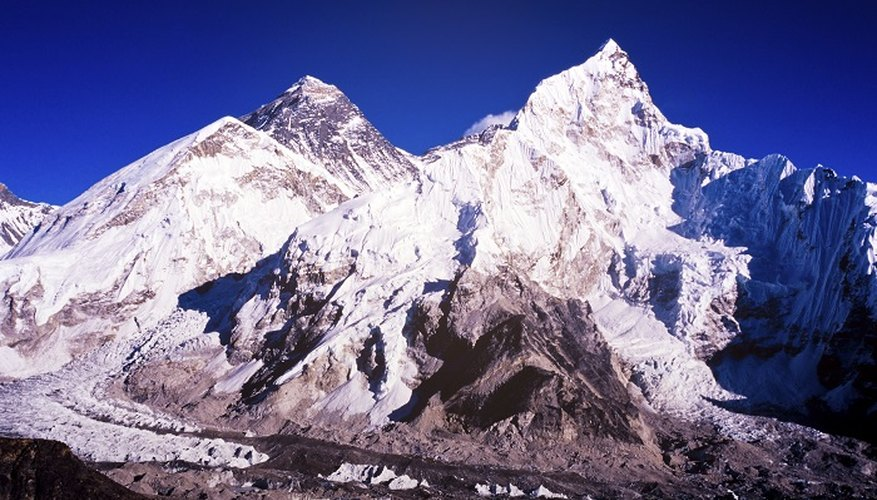 Reach for the heights with your own papier mache model of Mount Everest.
