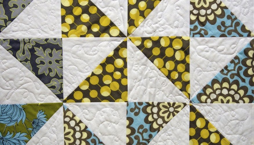 For a decorative doorstop, try quilting or embroidery fabric before piecing it together.