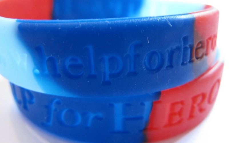 Silicone wristbands can be personalised with nearly any colour and wording.