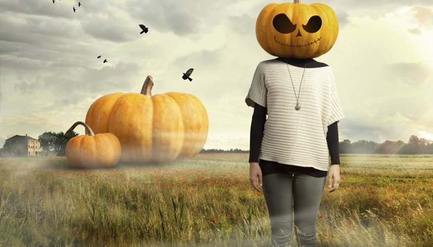 The pumpkin is a great choice for a Halloween vegetable fancy dress.