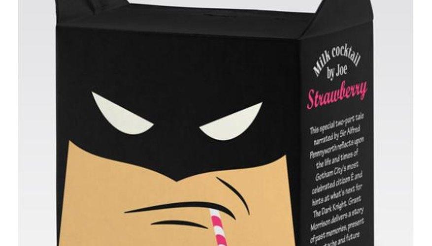 Batman en forma de cartón de leche.